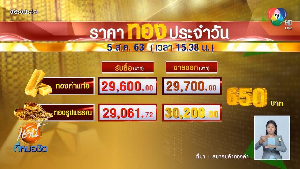 วันนี้ลุ้นต่อ หลังราคาทองในประเทศทะลุ 30,200 บาท