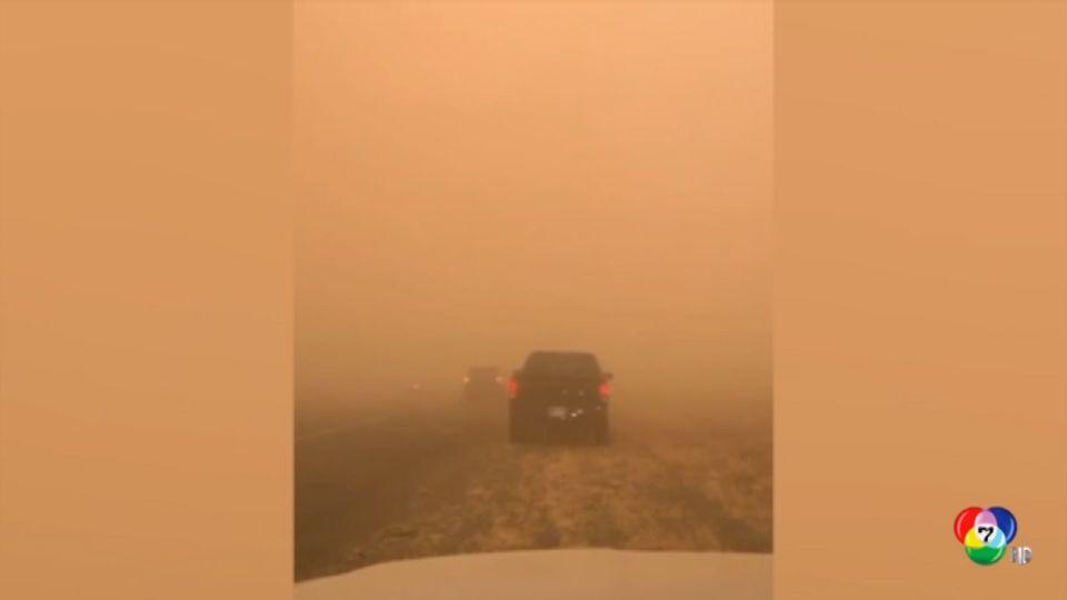 พายุทรายพัดปกคลุมรัฐแอริโซนา ทำให้การจราจรแทบหยุดชะงัก