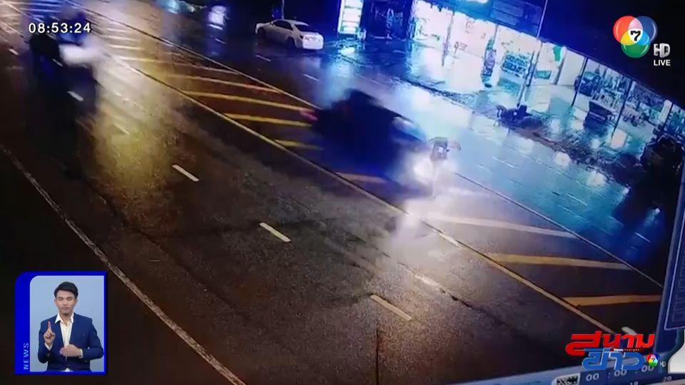 ภาพเป็นข่าว : สุดสลด กระบะชนน้าอุ้มหลานข้ามถนน เสียชีวิต