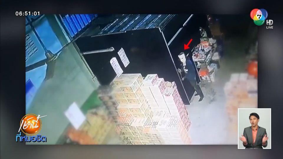 เร่งหาเบาะแสโจรปีนหลังคาร้านขายส่ง โรยตัวลงมาขโมยทรัพย์สิน คาดคนในพื้นที่
