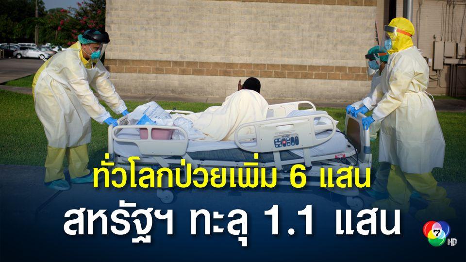 ทั่วโลกอ่วม! ติดเชื้อโควิดวันเดียวเพิ่มกว่า 6 แสนคน สหรัฐฯ ทะลุ 1.1 แสนคน ยอดป่วยสะสมทะลุ 49 ล้านคน