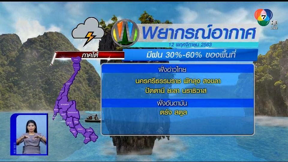 ฝนฟ้าอากาศ 11 พ.ย.63