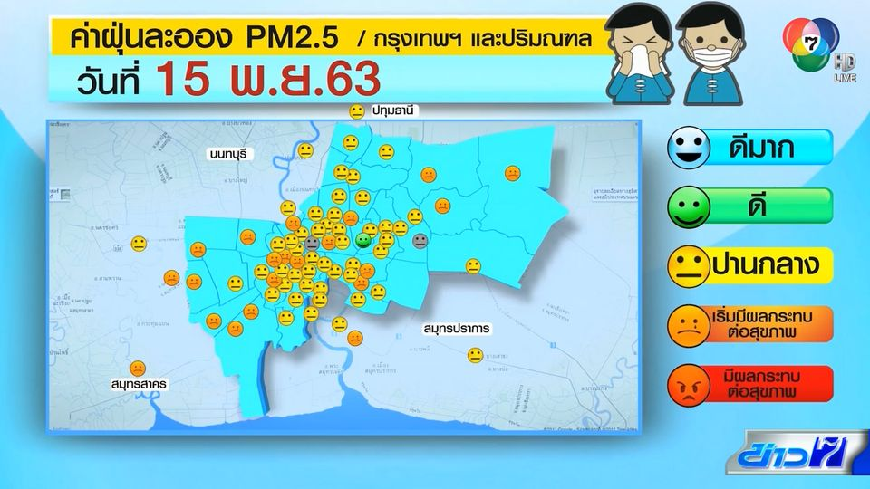 ฝุ่น PM2.5 กลับมาแล้ว เตือนคนไทยรับมือ