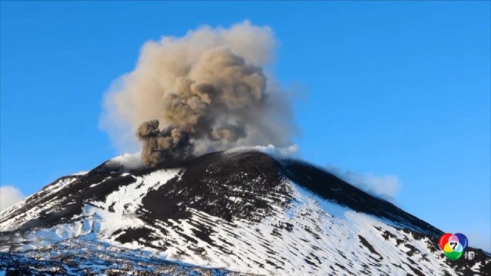 เผยภาพพื้นผิวภูเขาไฟเอทนา ปะทุหนักอย่างใกล้ชิด