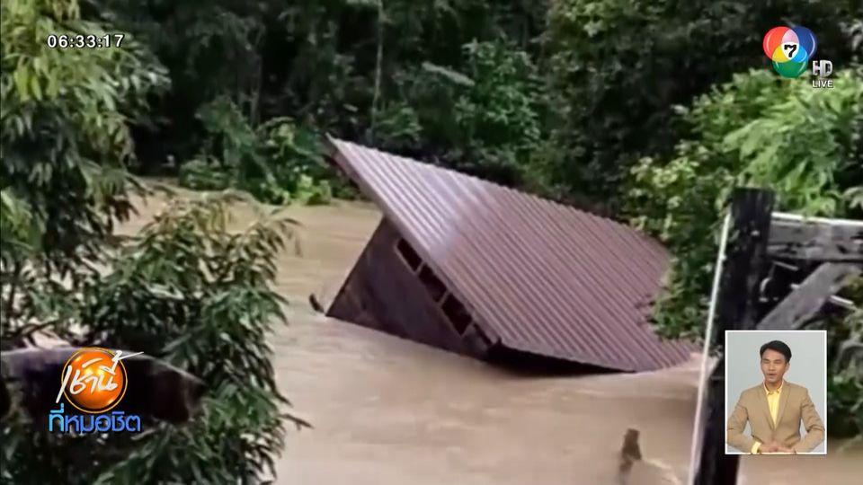 พัทลุงอ่วม น้ำป่าซัดบ้านไหล ชาวบ้านได้รับผลกระทบกว่า 30,000 ครัวเรือน