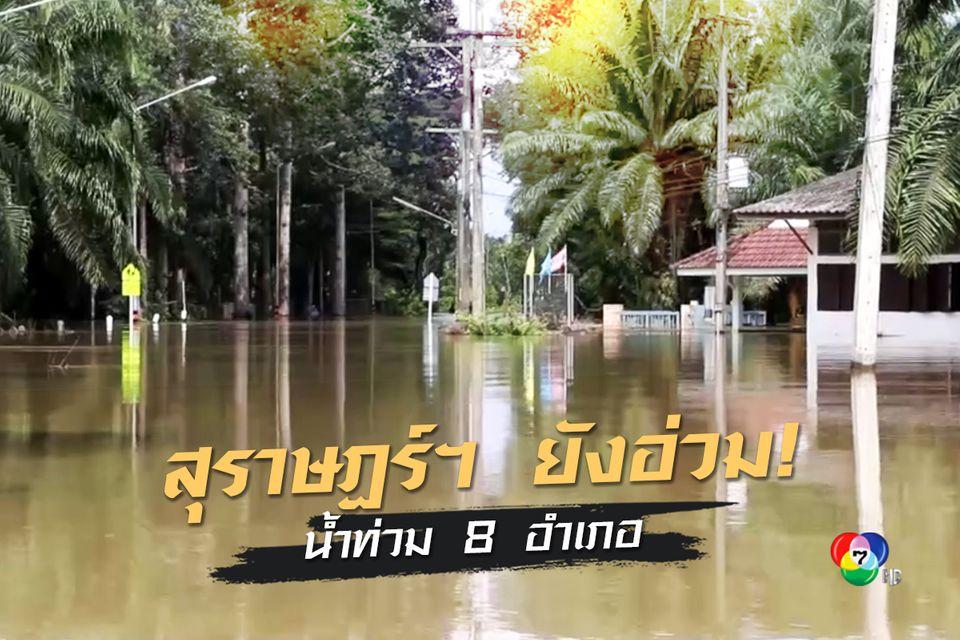 น้ำท่วมสุราษฎร์ธานียังวิกฤต! 8 อำเภอจมบาดาล เดือดร้อนกว่า 9 พันครัวเรือน