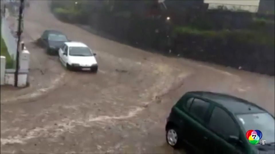 น้ำท่วมหนักในโปรตุเกส ประชาชนหลายสิบคนต้องอพยพทิ้งบ้านเรือน