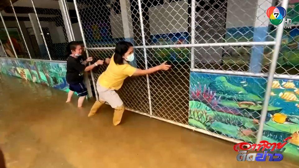 นราธิวาส ฝนตกต่อเนื่อง น้ำยังคงท่วมสูง - ยะลา เริ่มคลี่คลาย ระดับในแม่น้ำเริ่มลด