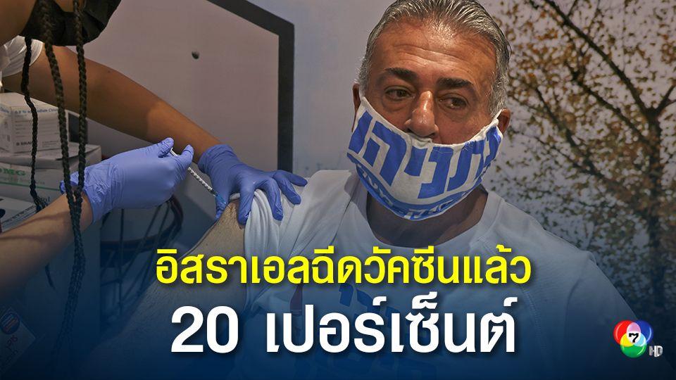 อิสราเอลฉีดวัคซีนโควิดให้ประชาชนแล้ว 20%