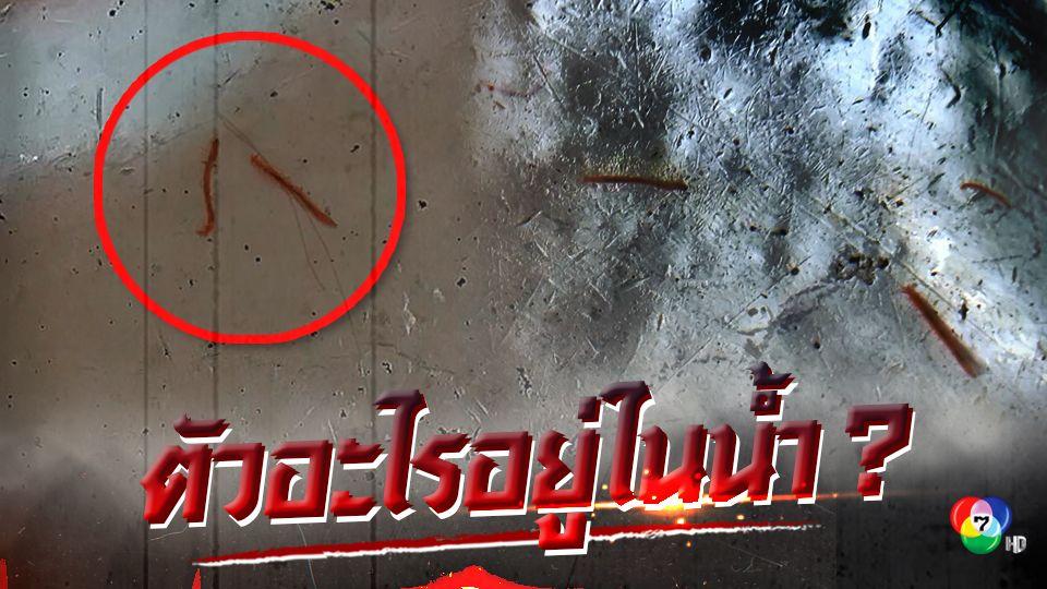 ผงะ!ชาวบ้านพบหนอนแดงโผล่ในน้ำประปาจังหวัดตราด