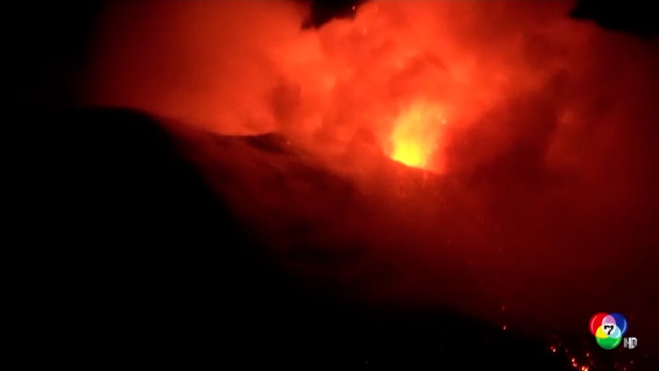 ภูเขาไฟเอตนา ปะทุรุนแรงหลายครั้งในอิตาลี