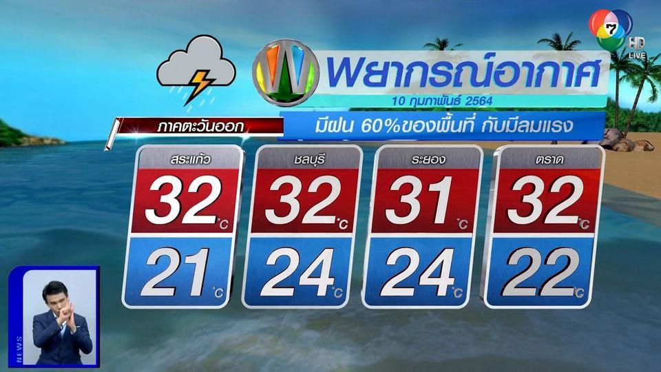 ฝนฟ้าอากาศ 9 ก.พ.64