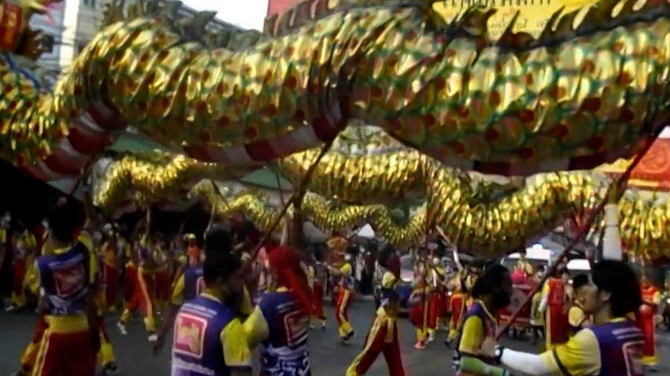 สีสัน ทิ้งทวนขบวนแห่เทศกาลตรุษจีนปากน้ำโพ จ.นครสวรรค์