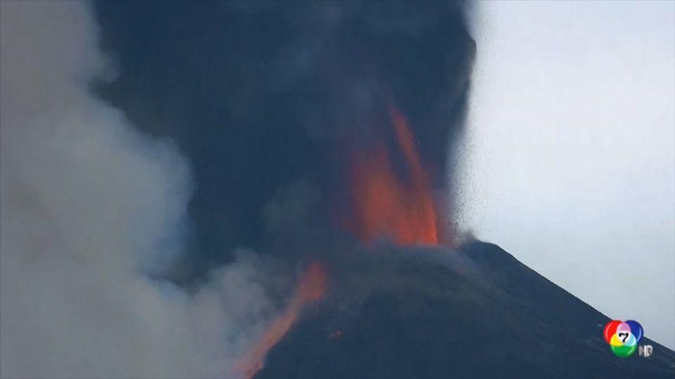 ภูเขาไฟเอตนา ยังคงปะทุรุนแรงต่อเนื่อง
