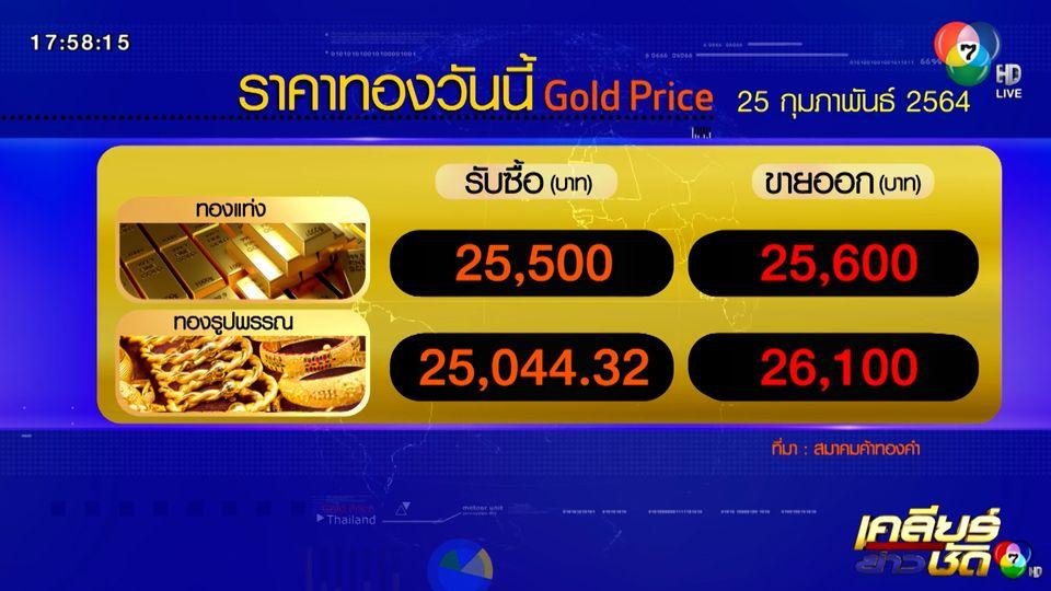 ราคาทอง-หุ้น 25 ก.พ.64