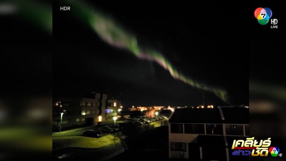 ปรากฏการณ์แสงเหนือในไอซ์แลนด์