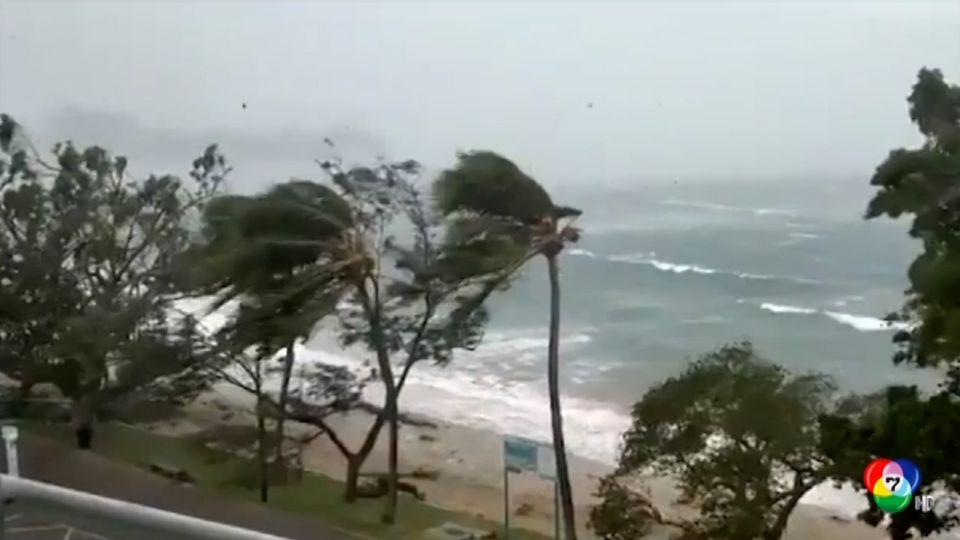 เผยภาพพายุไซโคลนนิรัน พัดถล่มอาคารบ้านเรือนหลายแห่งในนิวแคลิโดเนีย