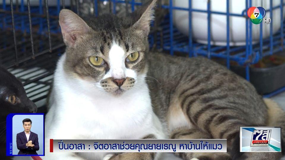 ปิ่นอาสา : จิตอาสาช่วยคุณยายเรณู หาบ้านให้แมว