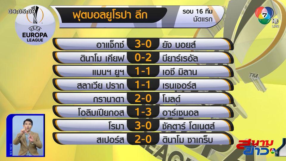 มิลาน ไล่เจ๊าทดเจ็บ แมนยูฯ 1-1 นัดแรก 16 ทีม ยูโรปาลีก