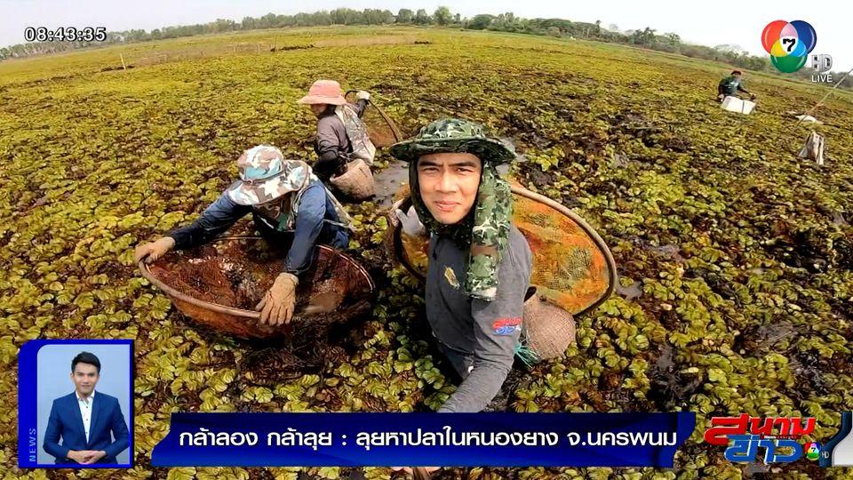 กล้าลองกล้าลุย : ลุยหาปลาในหนองยาง จ.นครพนม ตอน 2
