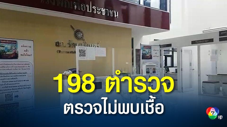 ผลตรวจ 198 ตำรวจ สภ.รัตนาธิเบศร์ ไม่พบเชื้อโควิด