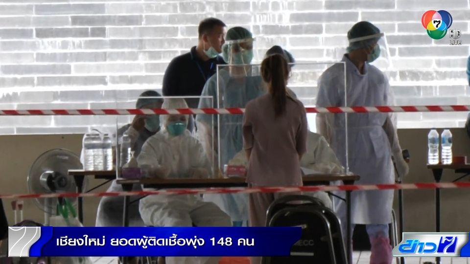 เชียงใหม่ ยอดผู้ติดเชื้อโควิด-19 พุ่ง 148 คน จากคลัสเตอร์สถานบันเทิง