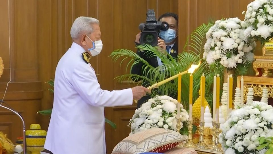 ประธานองคมนตรี เป็นผู้แทนพระองค์ในการถวายทุนการศึกษาพระราชทานของโครงการทุนเล่าเรียนหลวงสำหรับพระสงฆ์ไทย ประจำปี 2564