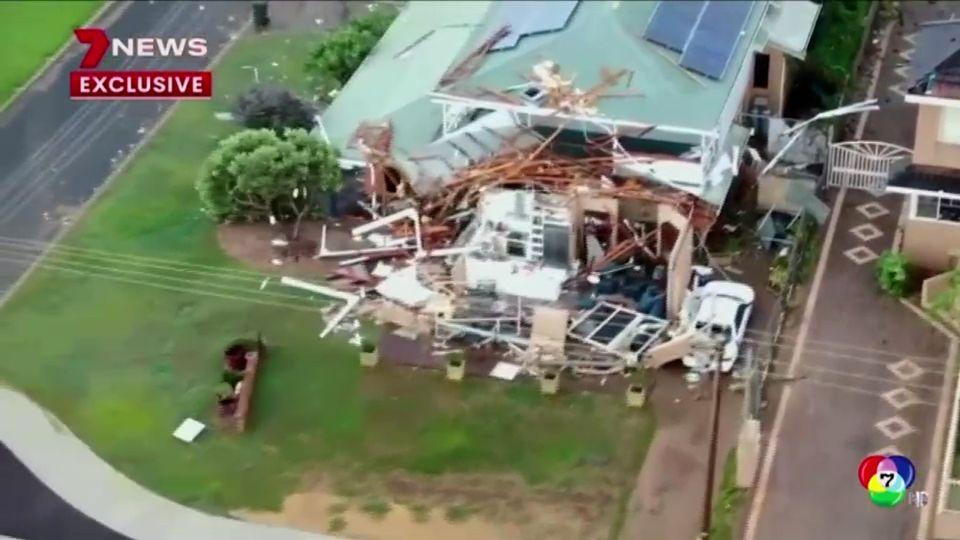 พายุไซโคลนเซอโรจา พัดถล่มออสเตรเลีย ซึ่งมีความเร็วลม 170 กม.ต่อชม.
