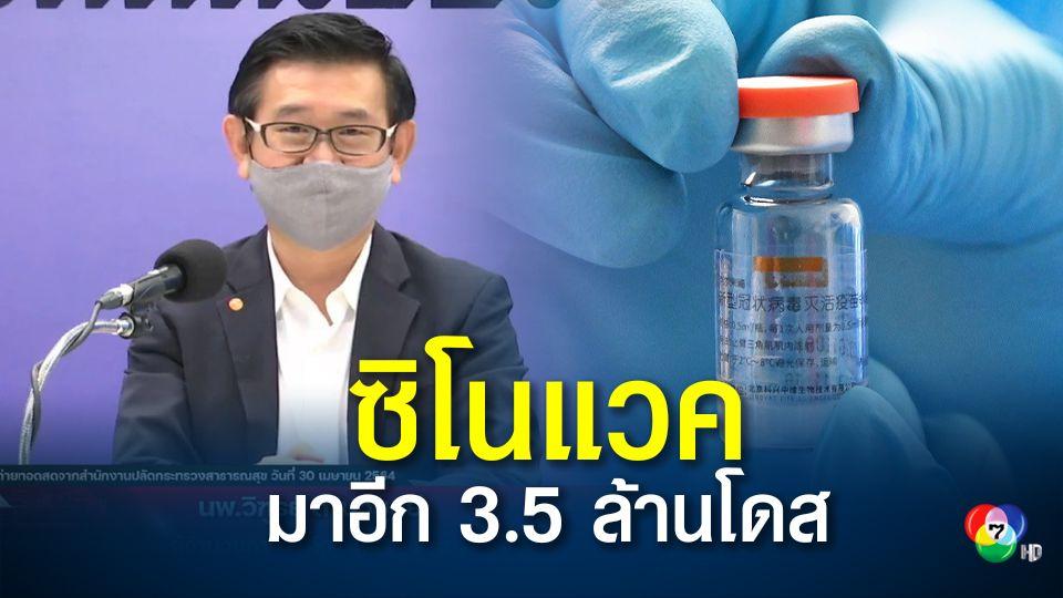 ยาฟาวิพิราเวียร์มีเพียงพอ เดือน พ.ค. วัคซีนซิโนแวคเข้าไทย 3.5 ล้านโดส