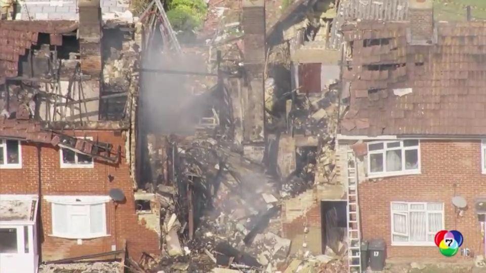 เกิดเหตุบ้านระเบิดในอังกฤษ มีผู้บาดเจ็บ 7 คน