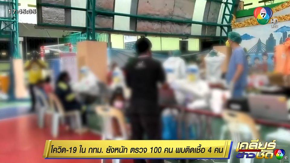 โควิด-19 ใน กทม.ยังหนัก ตรวจ 100 คน พบติดเชื้อ 4 คน