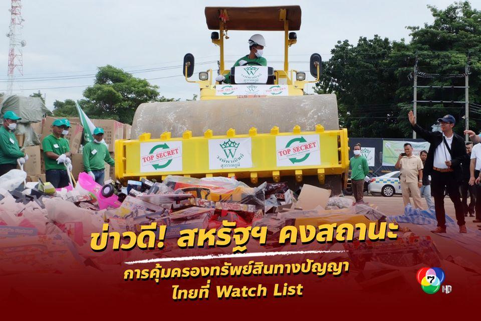 ข่าวดี สหรัฐฯ คงสถานะการคุ้มครองทรัพย์สินทางปัญญาไทยที่ Watch List