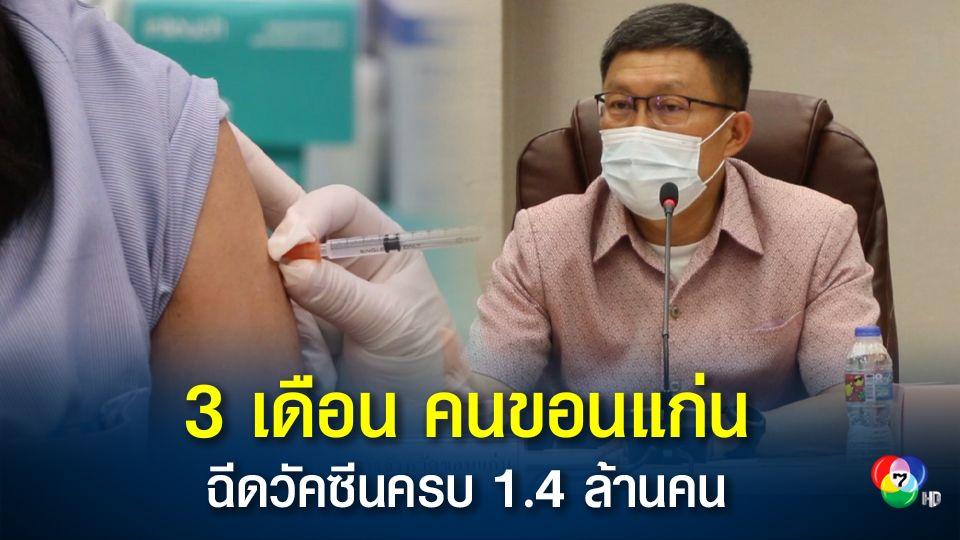 ผู้ว่าฯ ขอนแก่น ขีดเส้น 3 เดือน คนขอนแก่นฉีดวัคซีนครบ 1.4 ล้านคน