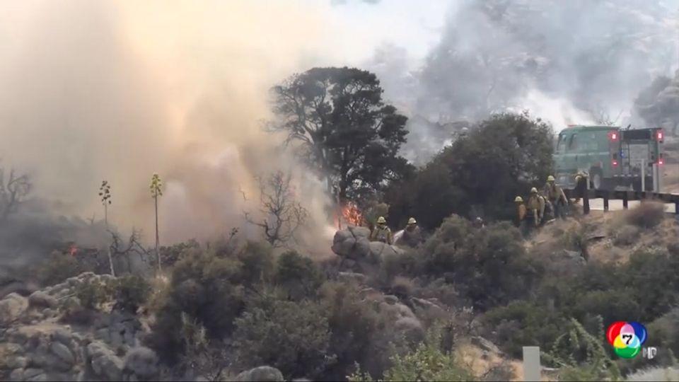 เผยภาพเจ้าหน้าที่ดับไฟป่ารุนแรงในรัฐแคลิฟอร์เนีย