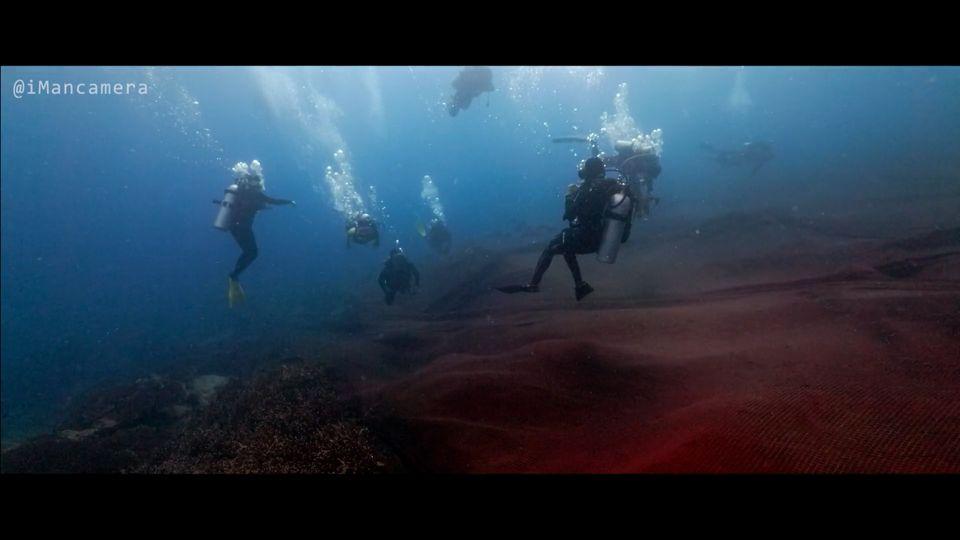 พบอวนขนาดใหญ่ใต้ท้องทะเลของเกาะโลซิน จ.ปัตตานี