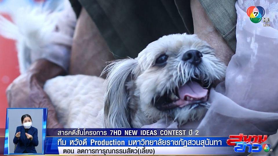 ลดการทารุณกรรมสัตว์ (เลี้ยง) : ทีม หวังดี  Production มหาวิทยาลัยราชภัฏสวนสุนันทา