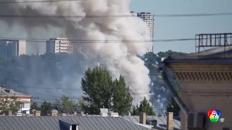 เพลิงไหม้โกดังพลุดอกไม้ไฟในรัสเซีย