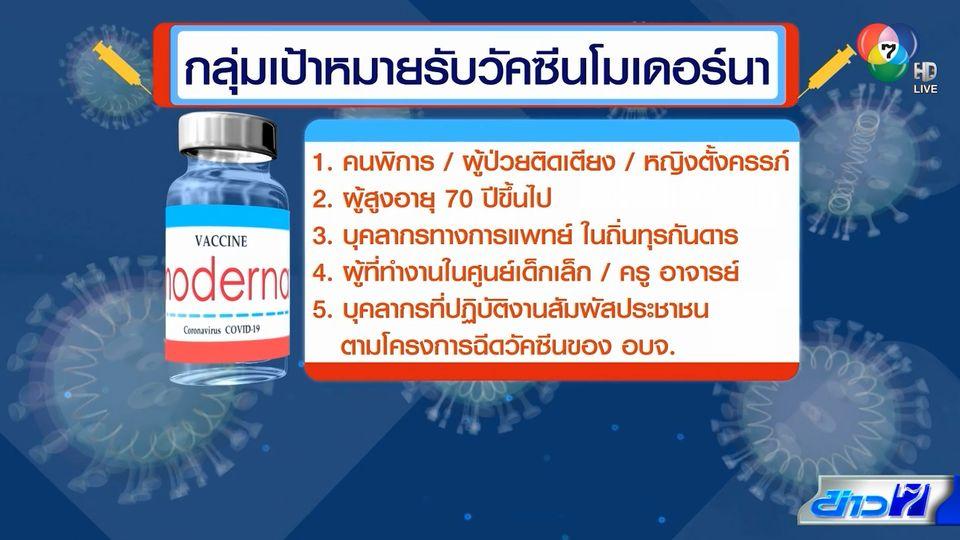 สภากาชาดไทย เผยแนวทางฉีดวัคซีนโมเดอร์นา