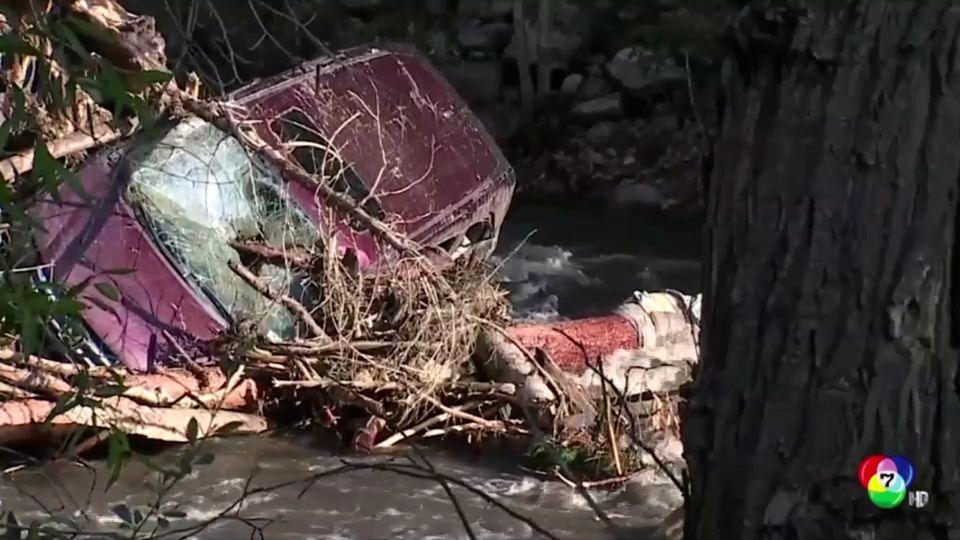 เกิดเหตุน้ำท่วม - ดินถล่ม ที่สหรัฐฯ พบผู้เสียชีวิต 1 คน