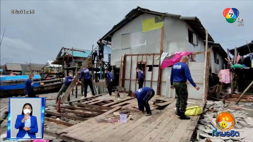 พายุลมหัวด้วน ถล่มเมืองกระบี่ 5 นาที บ้านพังกว่า 40 หลัง