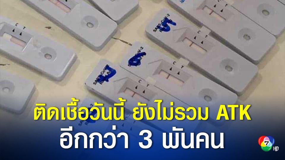 ติดเชื้อรายใหม่ ยังไม่รวมผู้ติดเชื้อที่ตรวจด้วยชุดตรวจ ATK อีกกว่า 3,000 คน