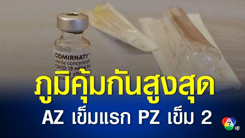 ศูนย์วิจัยคลินิกศิริราชฯ พบวัคซีนสูตรไขว้ แอสตราฯ ตามด้วยไฟเซอร์ ภูมิขึ้นสูงสุด