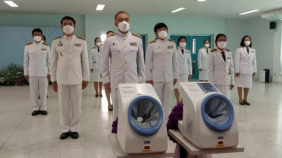 สมเด็จพระกนิษฐาธิราชเจ้า กรมสมเด็จพระเทพรัตนราชสุดาฯ สยามบรมราชกุมารี พระราชทานอุปกรณ์ทางการแพทย์ แก่โรงพยาบาลธวัชบุรี จังหวัดร้อยเอ็ด