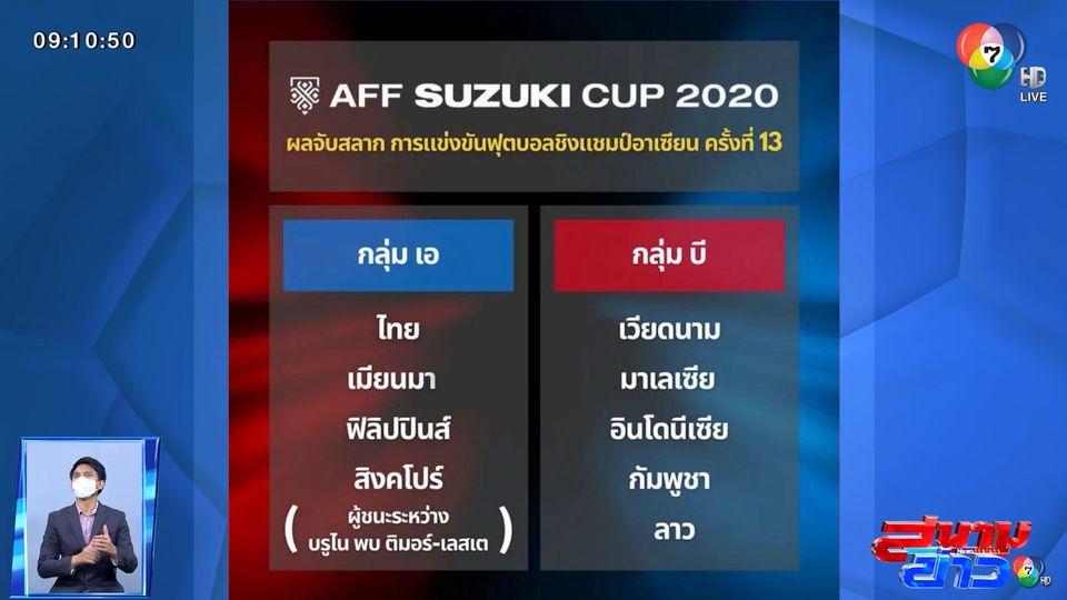ทัพช้างศึก ร่วมสาย เมียนมา, ฟิลิปปินส์ และ สิงคโปร์ ลุยภารกิจทวงแชมป์เอเอฟเอฟ ซูซูกิ คัพ 2020