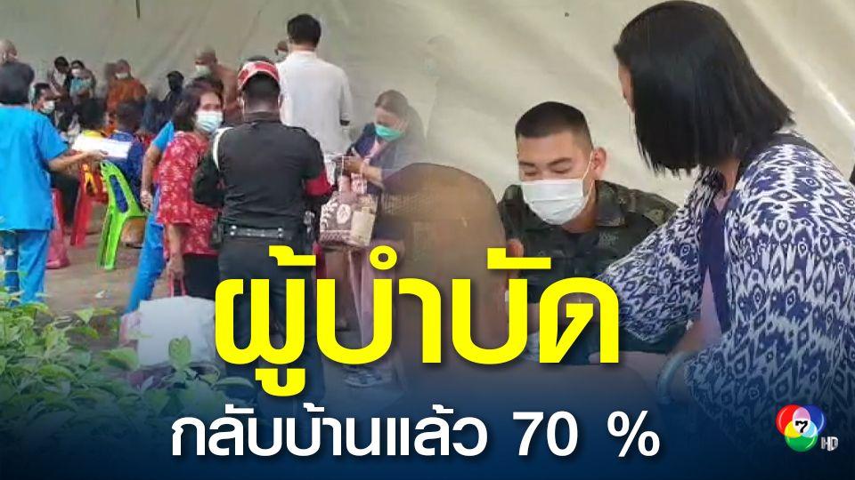 กลุ่มผู้บำบัดที่ถูกย้ายมาอยู่โรงพยาบาลสนามเขาชนไก่ ผู้ปกครองรับกลับบ้านแล้วกว่า 70 เปอร์เซนต์