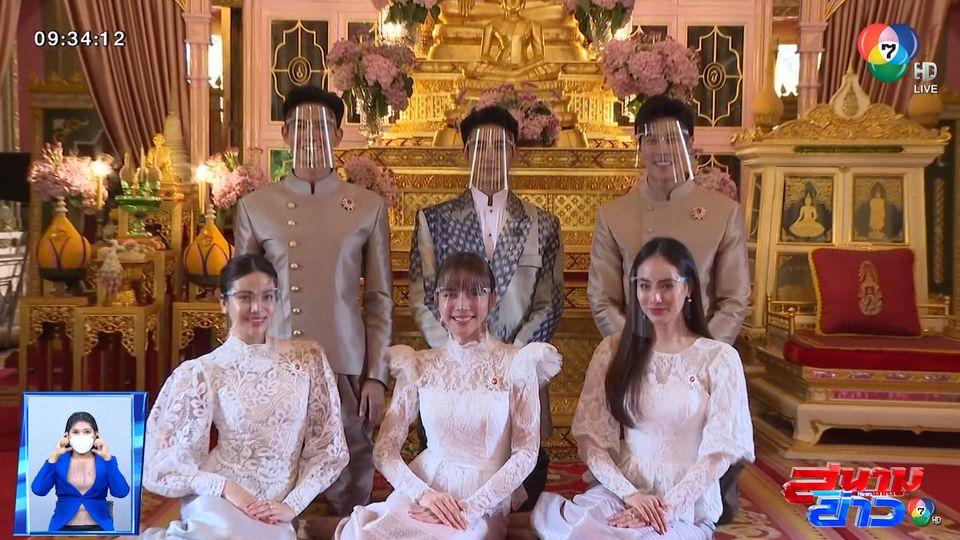 ยูโร ยศวรรธน์ ชวนเพื่อนนักแสดงแต่งชุดไทยทำบุญวันเกิด : สนามข่าวบันเทิง