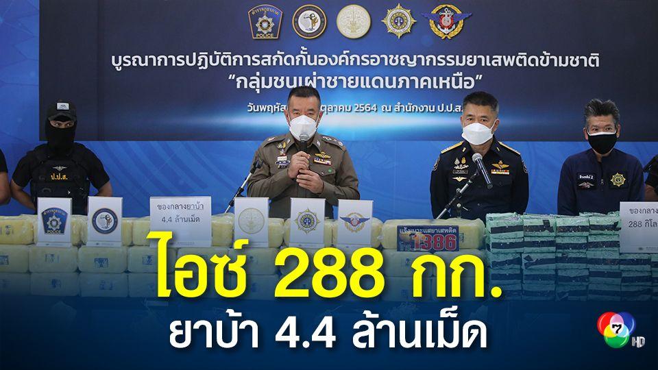 ล็อตใหญ่ ไอซ์ 288 กก. ยาบ้า 4.4 ล้านเม็ด