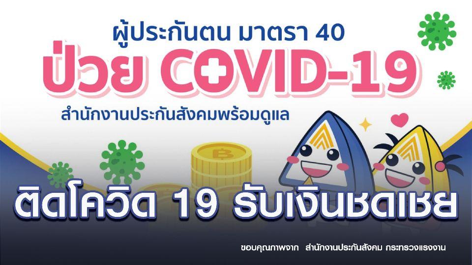 ประกันสังคม ม.40 ติดโควิด รับชดเชยสูงสุด วันละ 300 บาท