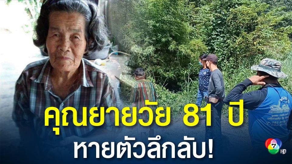 หลายหน่วยงานปูพรมค้นหาคุณยายวัย 81 ปี หายตัวลึกลับนาน 3 วัน