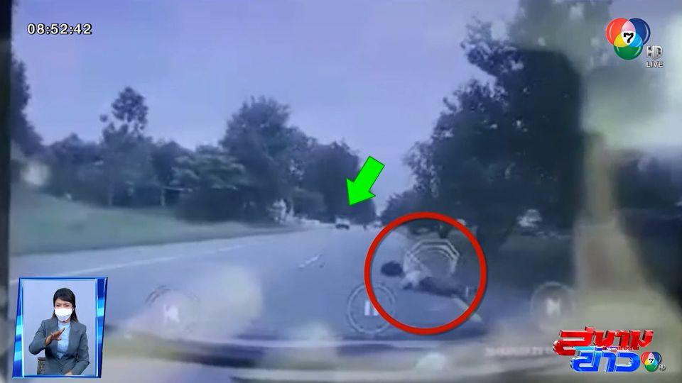 ภาพเป็นข่าว : อุทาหรณ์ บิกไบก์ซิ่งพุ่งชนท้ายรถยนต์ จ.ตาก